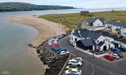 Great food, great location. Why not sit on the seawall with a cold beer while the kids run wild on the beach??? The Point Bar and Restaurant107 Point Road, Magilligan.