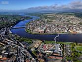 A little further afield, the City of Derry covers both sides of the River Foyle. With two vehicular bridges and one pedestrian bridge access to the city is simple.